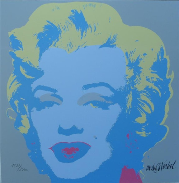 Andy warhol lithograph Marilyn Monroe signed numbered authenticated 1287 II. 23.  Elcoco