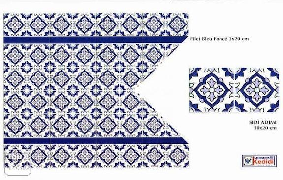 Ceramique murale : Sidi adjmi 10x20 cm. Ceramiques Kedidi Nabeul Tunisie: Ceramique Kedidi Nabeul Tunisie