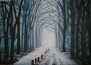 Chemin dans les bois.