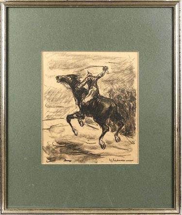 Reiterdarstellung, Titelseite der Kriegszeit Nr. 2 Von Paul Cassirer, 1914. Thomas Kern