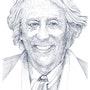 Portrait de Jean Rochefort. Paul Lebrun