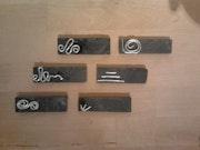 Six porte-couteaux originaux pour service de table. Madame