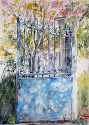Le portail bleu.