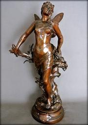 «Ondine» statue en bronze. Marc Menzoyan Antiquités