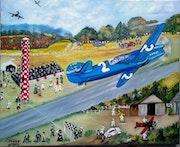 Avion Caudron- Démonstration, meeting aérien.