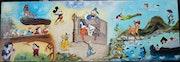 Fresque de personnage Disney pour Raphael.