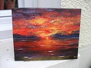 Coucher de soleil sur la mer / Acrylique sur toile. Mariraff
