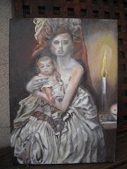 Jeune femme à l'enfant.