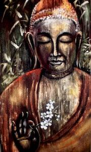 Bouddha à la fleur de cerisier..