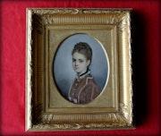 Portrait de jeune fille. Marc Menzoyan Antiquités