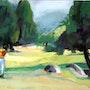 Le golfeur. Martine Brandolin