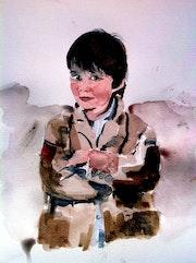 Portrait d'enfant ou d'Ange.