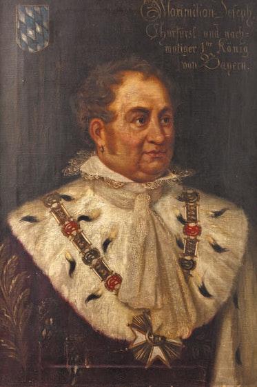 Gemälde König Max I Joseph von Bayern, Öl auf Leinwand, Franz Mirwald, 19 Jhdt.. Thomas Kern