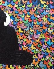 Bouddha et les papillons. Mónica Goudet