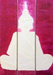 Bouddha blanc. Mónica Goudet