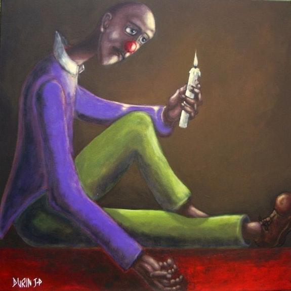Homme à la Bougie. Jean Pierre Durin Galerie La Grange