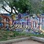 Ashaine callygraphie sur toile. Fabenart/ Fabenaqui/faben