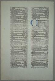 Inkunabelblatt «Inhaltsverzeichnis» aus der Schedel'schen Weltchronik 1493!.