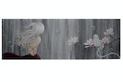 Femme nébuleuse et sa perruche. Anne
