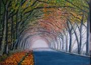 La route dans la forêt.