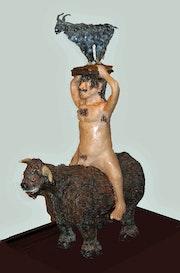 Bull rider. Art By Alan