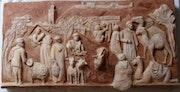 Bas-relief «Souk du Talborjt» années 50.