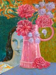 Le vase rose. Marie-Helene Alvin