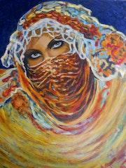Un regard. Étude de femme orientaliste. Marie-Helene Alvin