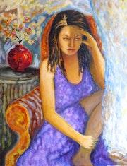 Jeune fille pensive. Marie-Helene Alvin