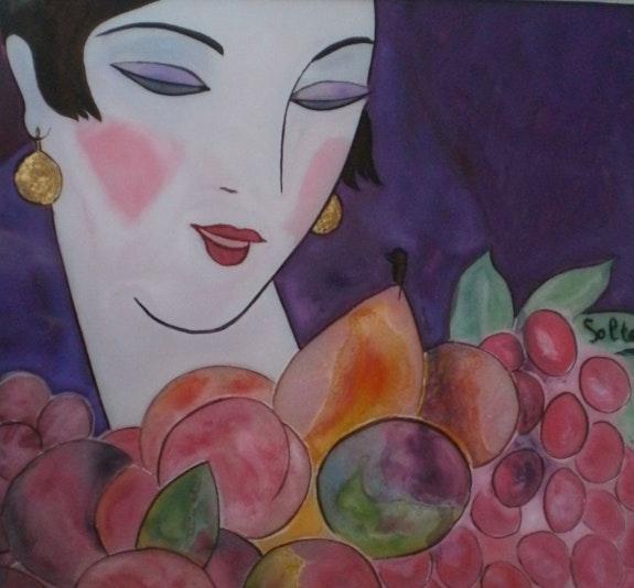Peinture sous verre - La vie en rose ?. Annie Saltel Annie Saltel