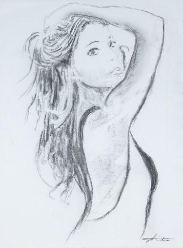 2014 - La fille aux longs cheveux noirs…. Ayala Andre