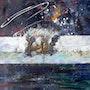 Kollmar - Serie Elbebilder in Öl und Acryl, Teilcollagen. Zimmermann, Gerd «The Artist»
