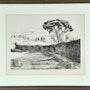 Lithographie «Spanische Landschaft mit Klostermauer» Prinzessin Pilar von Bayern. Thomas Kern