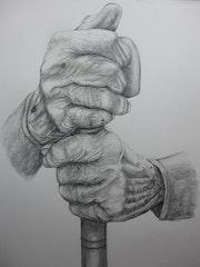 Manos de anciano, -Mains de l'homme des personnes âgée.