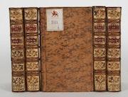 5 Bände «Elémens de l'histoire», aus der Bibliothek der Grafen von Schönborn.. Thomas Kern