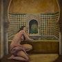 «Sara en el baño». Desnudo en uno de los baños de la Alhambra de Granada.. Ramón Moya López