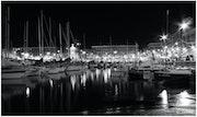 Le port la nuit.