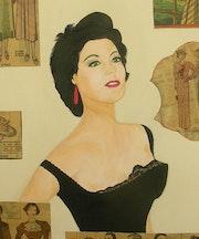 Ava Gardner (gros plan).