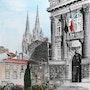 Préfecture du Puy de Dôme et Cathédrale de Clermont.