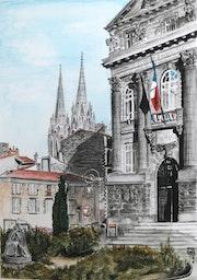 Préfecture du Puy de Dôme et Cathédrale de Clermont. Gérard Bel