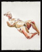 Tonya Propped - Watercolour Nude.