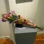 Vase couché, pour fleur séchées. Michel. Gouyet