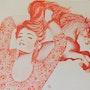 Crinières au vent, le crin de l'une ne craint pas l'autre.. Jean Claude Ciutad-Savary. Artiste Peintre