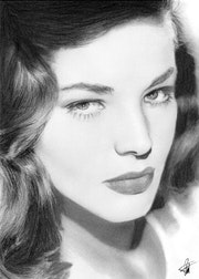 Portrait 26 Laren Bacall.