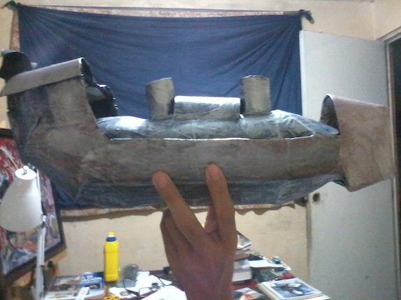 Barcos metálicos. Camina Acopa Reciclar- Arte