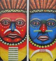 Art naïf - Papouasie Nouvelle Guinée. Galerie Gecko