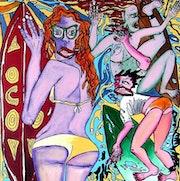 Tahiti surfing girls. Galerie Gecko