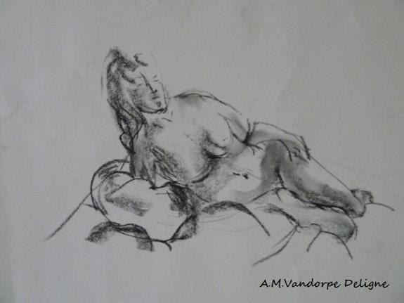 Modèle vivant 2. Amdv Anne-Marie Vandorpe Deligne