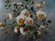 Branchage de roses jaunes.