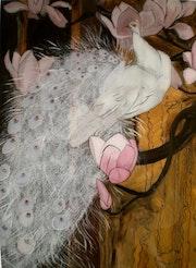 Peinture sous verre - les oiseaux de Jessy Arms Botke.